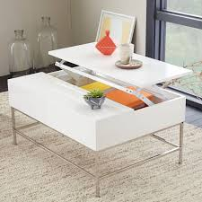 5114C - Modern White Lacquer Coffee Table