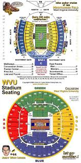 Wvu Stadium Seating Chart 68 Experienced Wvu Coliseum Seating Chart