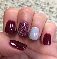 cranberry glitter silver nexgen nails