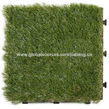 China Chinese supplier artificial grass carpet mat tile on Global
