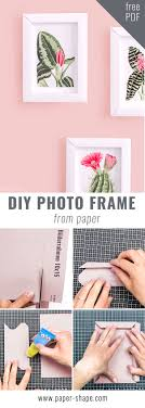 paper photo frame tutorial cute diy with template and instructions papershape papershape