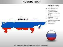 Russia Country Powerpoint Maps Powerpoint Design Template