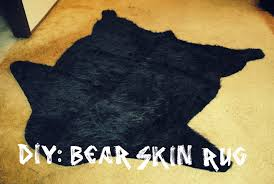 Faux Bearskin Rug Rug Perfect Faux Bear Rug For Your Pretty Space Room Decor