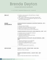 Human Resources Resumes Human Resources Generalist Resume Examples New Human Human
