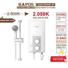 Mã 77ELSALE hoàn 7% đơn 300K] Máy nước nóng không bơm Panasonic DH-3RL2VH -  3500W - 3 mức độ nhiệt - HAPOS Phân Phối - Máy nước nóng