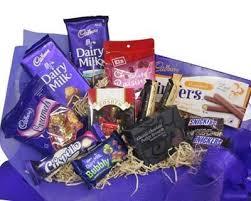 chocolate gift baskets hers