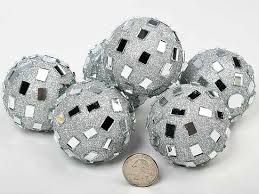 Decorative Balls For Bowls Silver Mirrored Disco Balls Vase Fillers Table Scatters 59