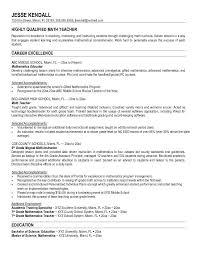 Cover Letter For Resume Math Teacher Adriangatton Com