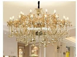 free cognac color chandelier crystal hanging lamp fixtures hotel
