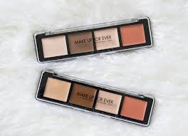 the beauty vanity make up for ever pro sculpting face palette review swatches
