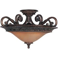 decorative bronze flush mount ceiling light 12 oil rubbed maxim lighting semi flushmount lights 11241saoi 64 1000