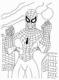Il Forte Uomo Ragno Spiderman Da Stampare E Da Colorare Per Bambini