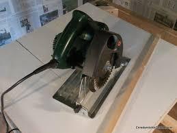 circular saw table mount. how to make a table saw, rummageinthegarage circular saw mount