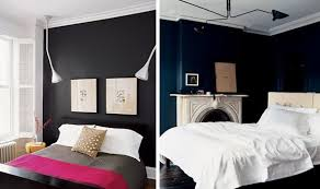 dark black blue bedroom