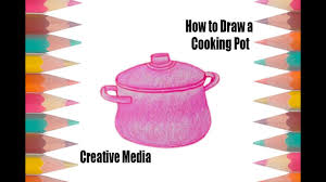 Small Picture How to Draw a Cooking Pot Coloring Pages for Kids Cooking Pot