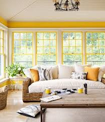 Image Room Decoration Yellow Inset Trim In Room With Little Wall Space Creates An Extra Sunny Room Pinterest 100 Living Room Decorating Ideas Youll Love Morning Room Ideas