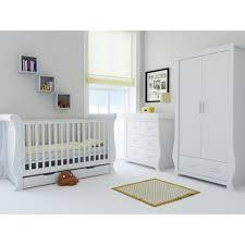nursery white furniture. Babystyle Hollie Nursery Furniture Set (Fresh White) - 3 Piece (Free Mattress) White
