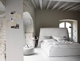 Modern Country Bedroom Modern Bedroom Design With Exposed Gray Brick Wall Ideas