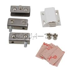 silver tone glass pivot door cabinet lock hinge clamp kit for 5 8mm glass door 1 of 3free see more
