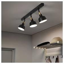 ranarp black ceiling track 3 spots