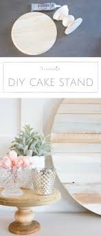 Farmhouse Home: How to Make your own Simple DIY Wood Cake Stand in Just 5  Minutes