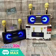sale 50%)loa sub - loa bluetooth karaoke sdrd sd-301+ kèm 2 mic không