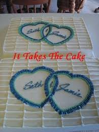 Basic $17 99 Costco sheet cake with initials and rose buds Seeing