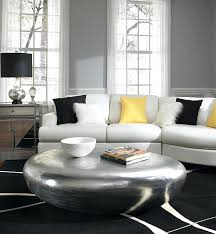 silver drum table beautiful drum tables living room and living room cool living room decorating ideas with round silver