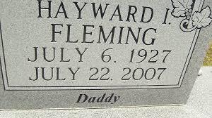 Hayward Ivy Fleming, Sr (1927-2007) - Find A Grave Memorial
