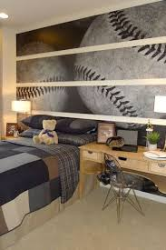 Modern And Stylish Teen Boy Rooms  Photo accent wall is a great way to  show child's favorite sport game or anything else