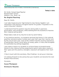 Educator Cover Letter English Teacher Cover Letter Sample