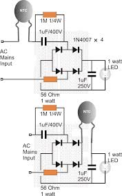 using an ntc thermistor as a surge suppressor datasheet alternatively it be also connected after the bridge rectifier as shown in the following examples of surge controlled compact transformerless 1 watt