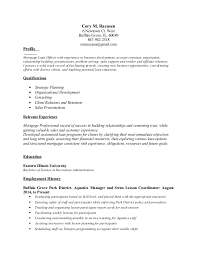 Mortgage Broker Resume Sample Entire Photograph Loan Officer