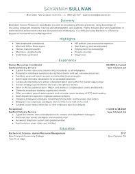 Human Resource Resume Sample Human Resource Resume Samples Entry Level Resources Generalist