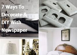7 ways to decorate amp diy with newspaper jpg