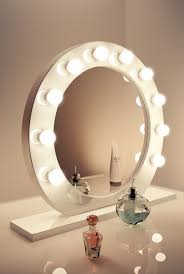 outstanding free standing makeup mirror with lights 83 for your