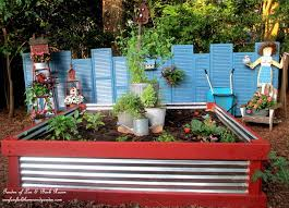 corrugated metal and wood beds rasied bed 1