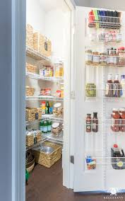organized pantry ideas for small reach ins