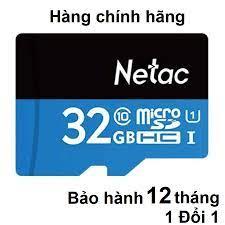 Thẻ nhớ 32Gb Netac class 10 MicroSD – Chính hãng/80Mb/s/tốc độ nhanh