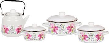 <b>Набор посуды</b> для приготовления <b>СтальЭмаль</b> Мозаика ...