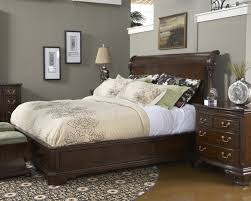 american cherry charleston platform panel bedroom set