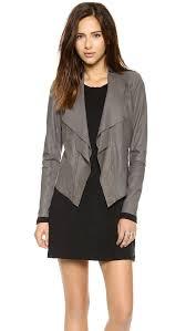 Light Gray Blazer Womens Light Grey Leather Jacket Womens