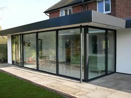 Contemporary Folding Patio Doors Cost Enclosure Flat Roof Conservatorybi Doorspatio For Modern Ideas