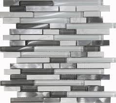 sample white glass stone metal linear glass mosaic tile kitchen backsplash wall