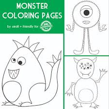 monster coloring pages just in time for