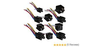 amazon com the wires zone 5 pack 30 40 amp relay wiring harness amazon com the wires zone 5 pack 30 40 amp relay wiring harness spdt 12 volt bosch style s automotive