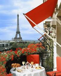 dining with eiffel tower view. scenic views at plaza athenee dining with eiffel tower view o