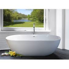freestanding bathtub modern design in white acrylic 1800x865mm emma