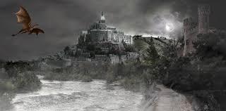 フリー写真 ドラゴンと城のファンタジーな世界 パブリックドメインq