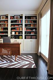 home office with new built in bookcases bookcases for home office